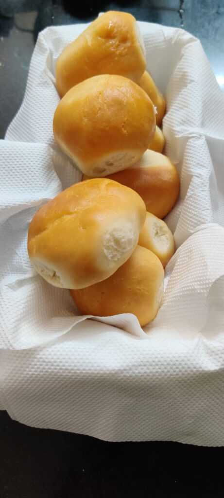 These home made buns are made with all purpose flour ,without butter or milk and on gas stove.